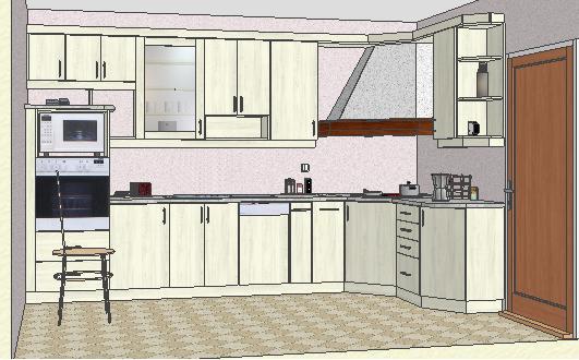 Готовые интерьеры кухни 6 квадратный